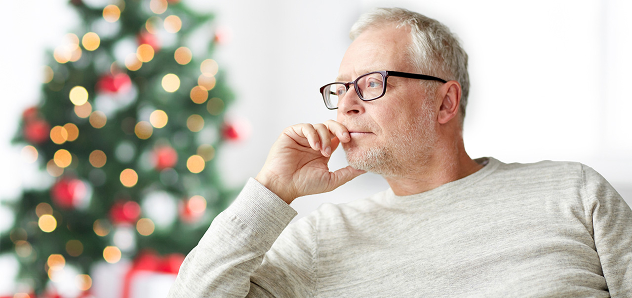 Man Emotionally Struggling During the Holidays