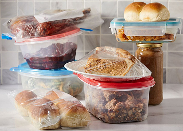 Holiday leftovers in containers