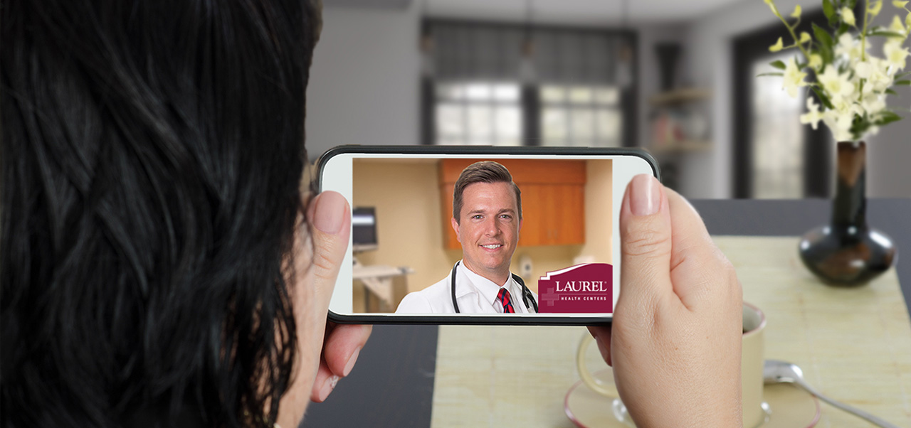 Telemedicine appointment with the Laurel Health Centers